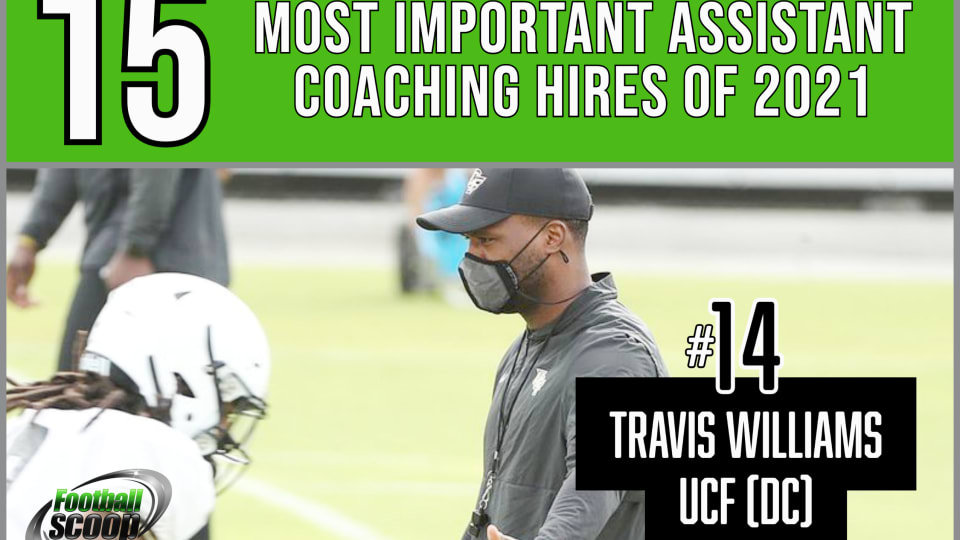 The 15 most important assistant coaching hires of 2021 -- No. 14: Travis Williams, UCF