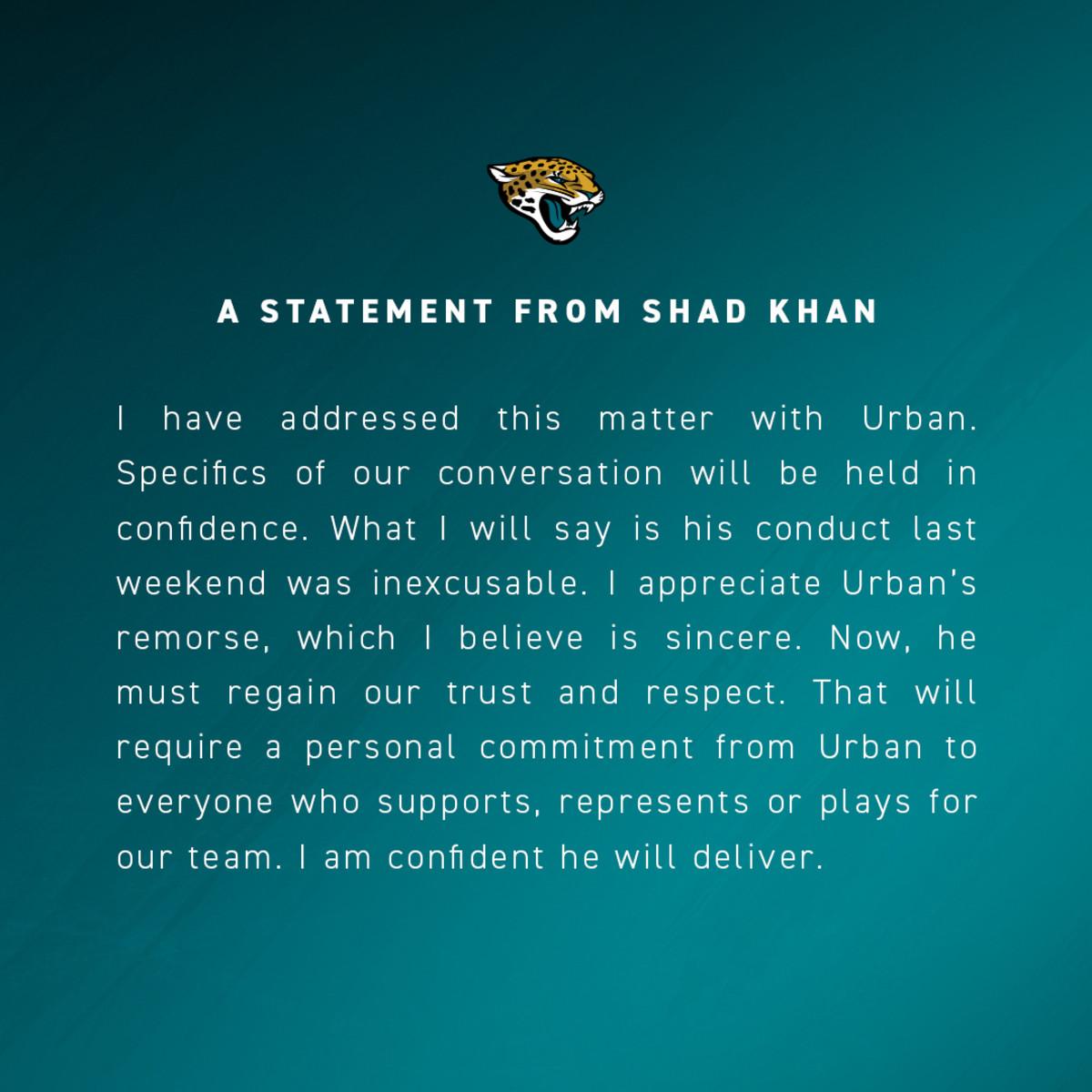 Khan statement