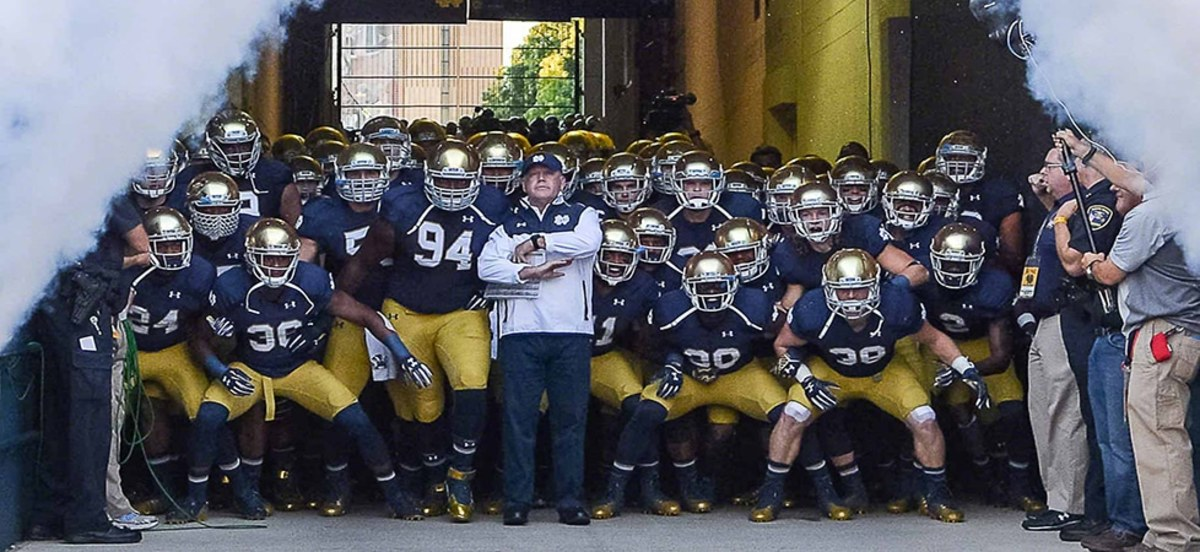 NCAA FOOTBALL: SEP 06 Michigan at Notre Dame