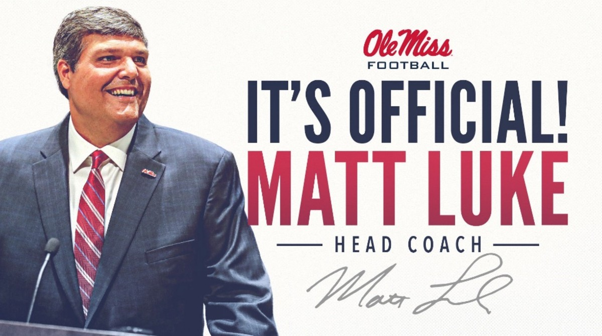 Sources: Matt Luke will be the full-time head coach at Ole ...