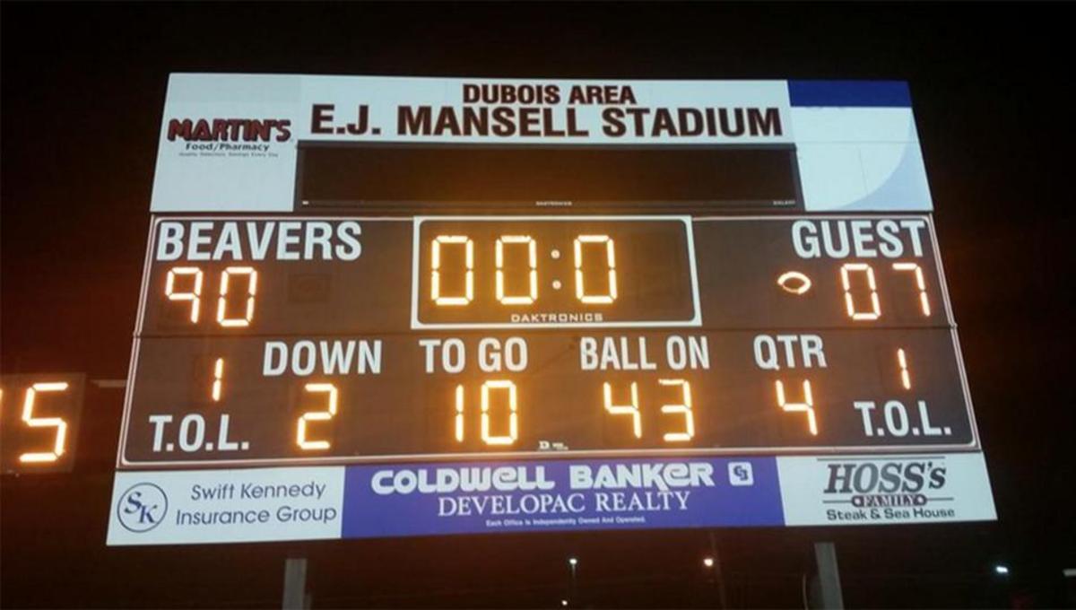 Meadville scoreboard