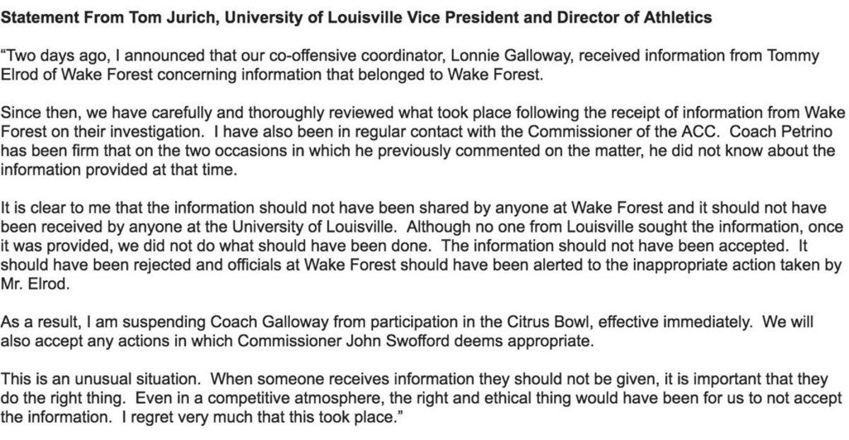 Louisville statement