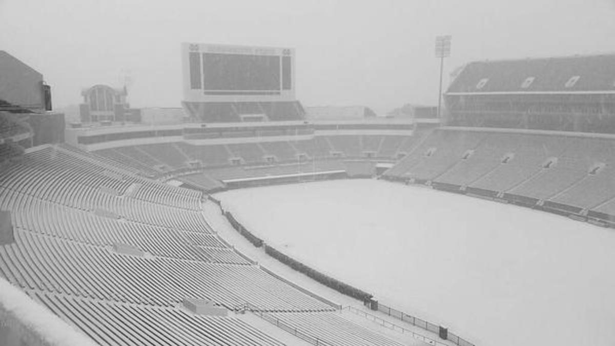 Mississippi State snow