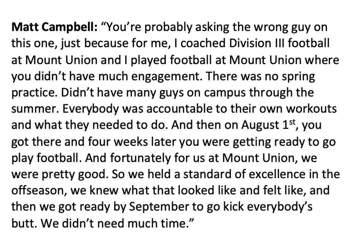 Matt Campbell answer